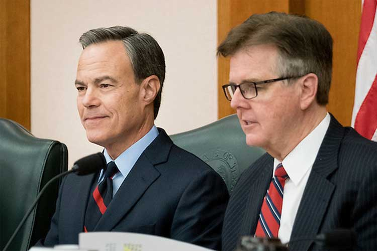 Lieutenant Dan Patrick Threatening Special Session Over