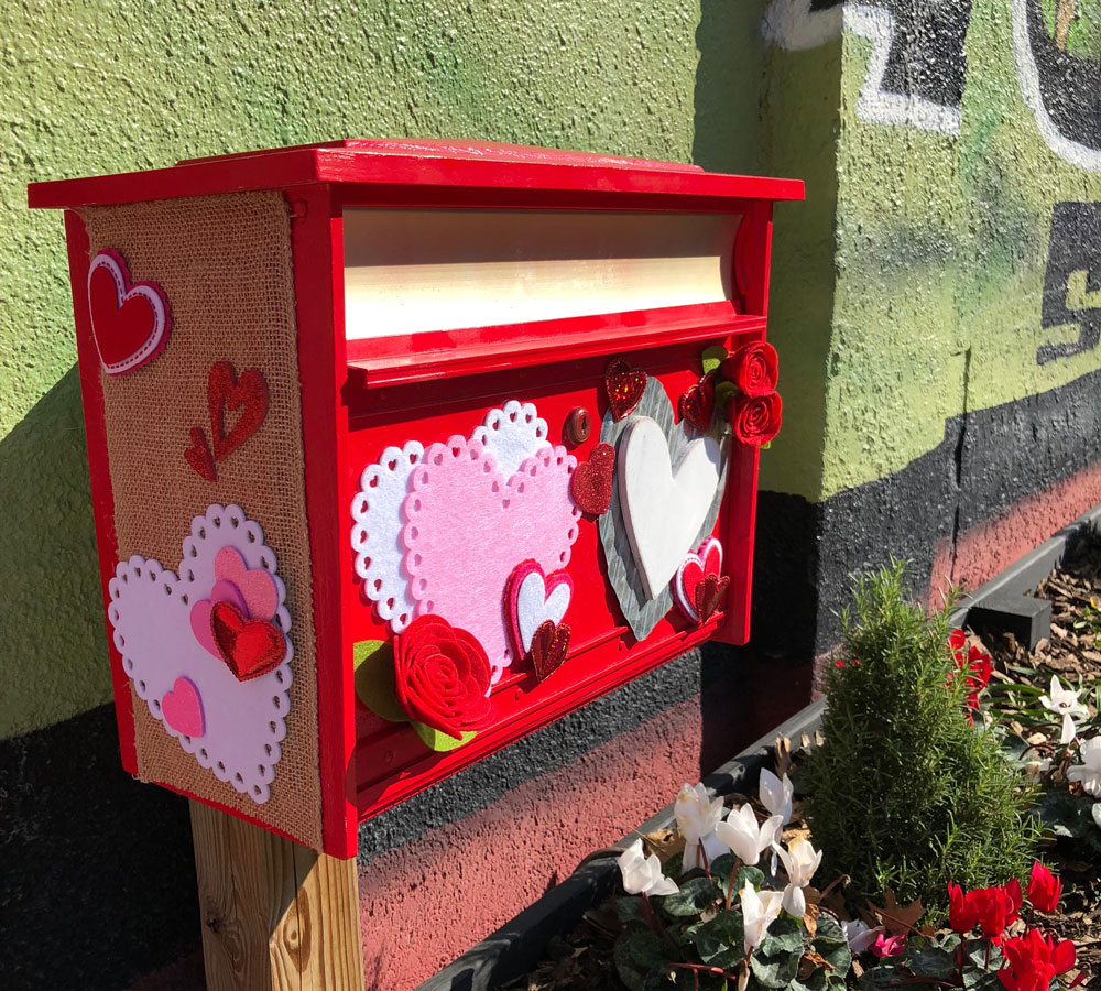 Photo of Valentine Mailbox Opens In Kissing Alley