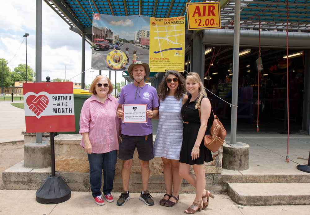 San Marcos Main Street Program Names Lions Club Tube Rental Partner Of The Month