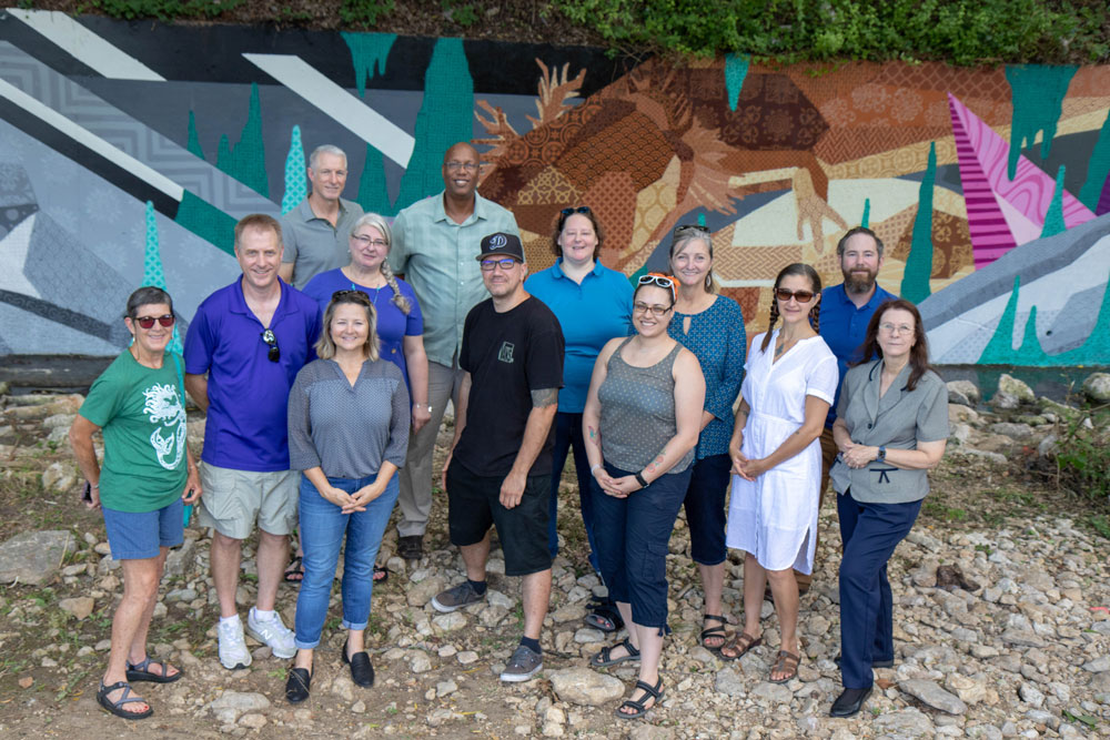 """San Marcos Dedicates New """"Life Of Color"""" Mural On Sessom Drive"""