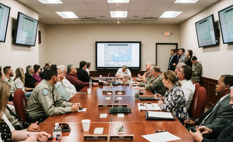 Governor Abbott Receives Briefing On Latest Tropical Development In Gulf Of Mexico