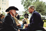 Governor Abbott Presents Governor's Medal Of Courage To West Freeway Church Of Christ Hero Jack Wilson